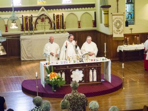 Communion Service at St Lukes officiated by Father Gwilym Henry-Edwards